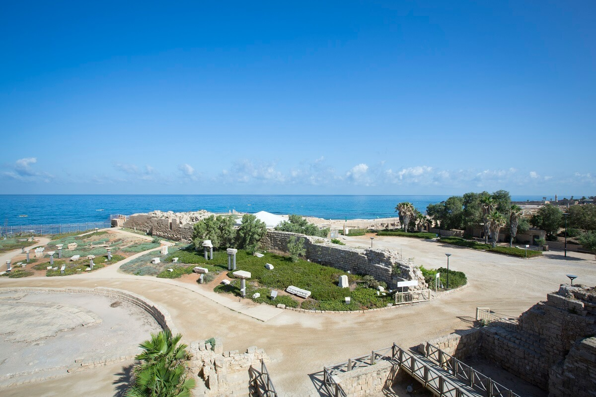 View of the national park of Caesarea