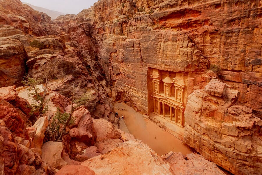 The Main Sign of Ancient site of Petra, Jordan.