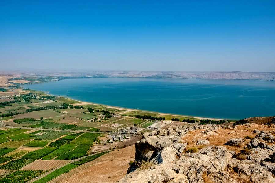 Lower Galilee Landscape, Overlooking the Sea of Galilee, Israel.