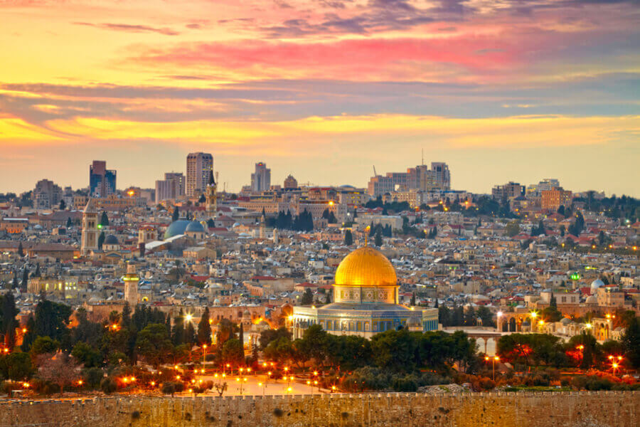 The sun Goes Down on the City of Jerusalem