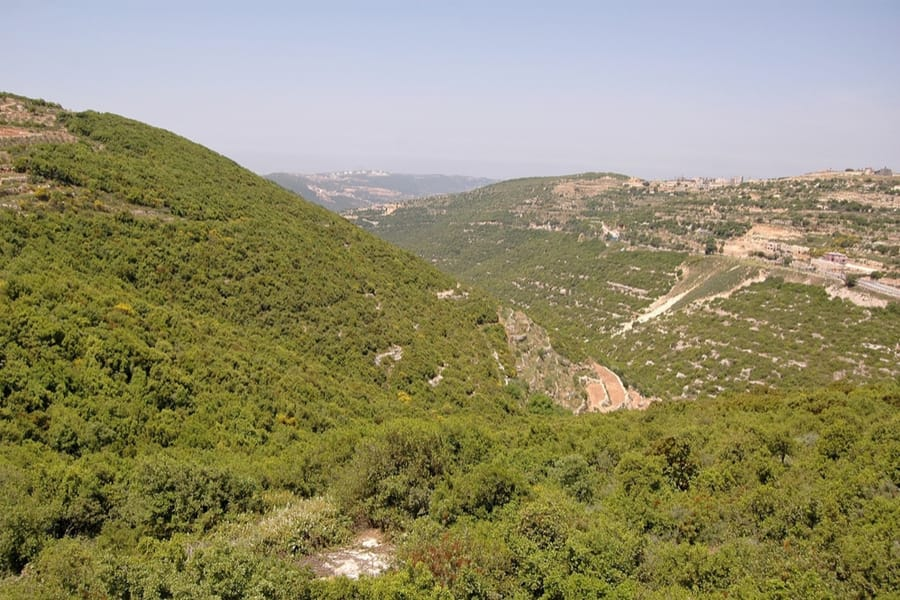 view from Mount Meron