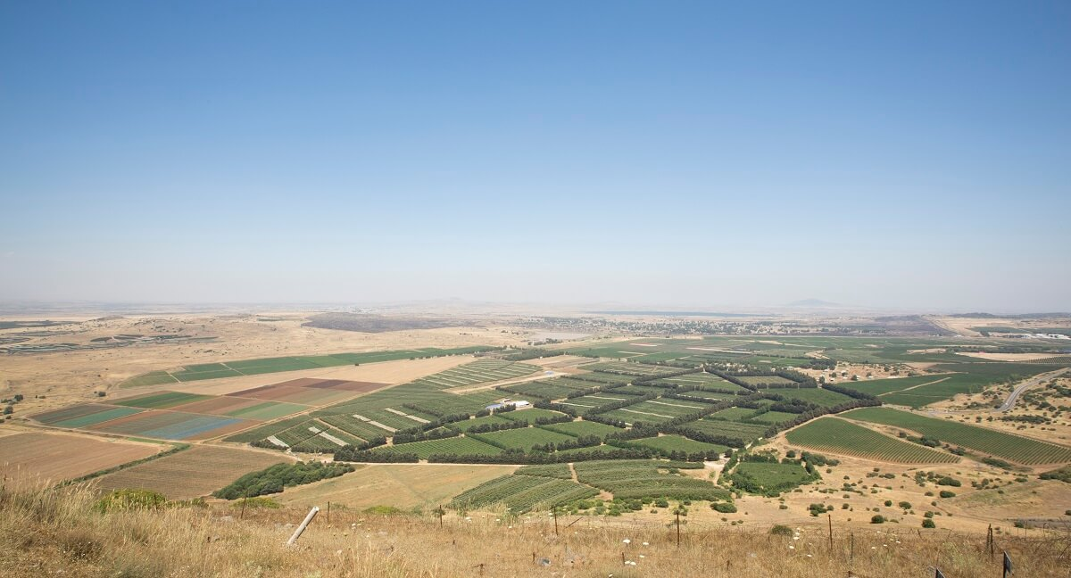 The scenic view from Mount Bental