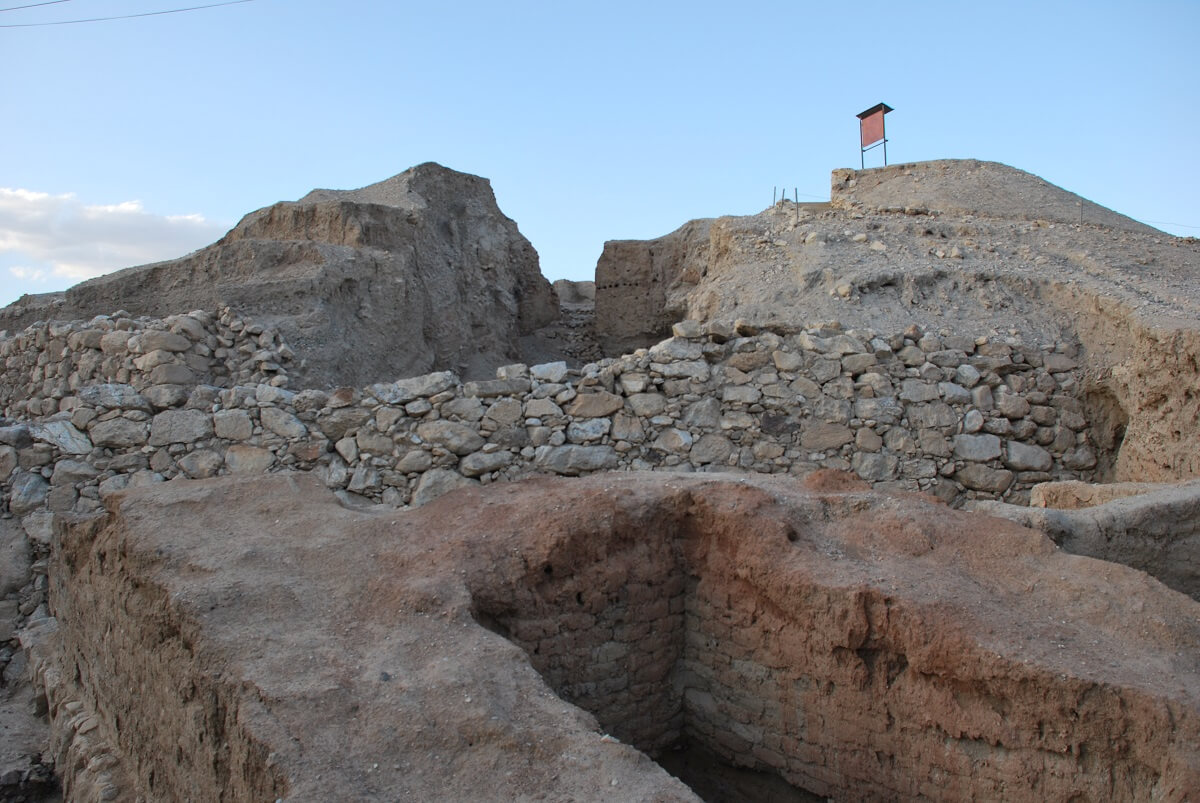Climb to Mound of ancient Jericho