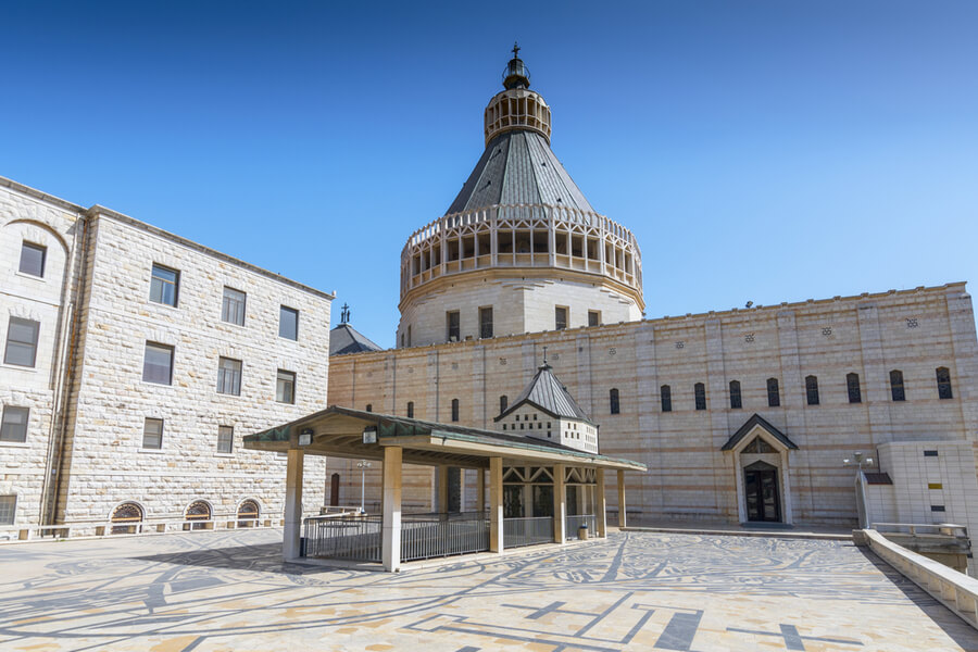 Basilica of Annunciation in Nazareth, Israel.
