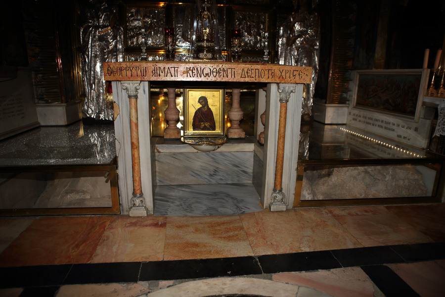 Holy Sepulcher Golgotha. Photo credit: Dan Porges