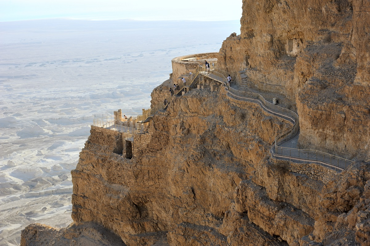 Breathtaking view of Masada