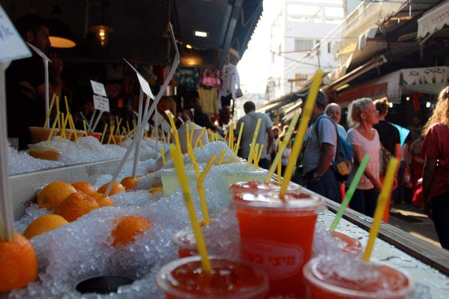 Have a drink! At Carmel Market, Tel Aviv