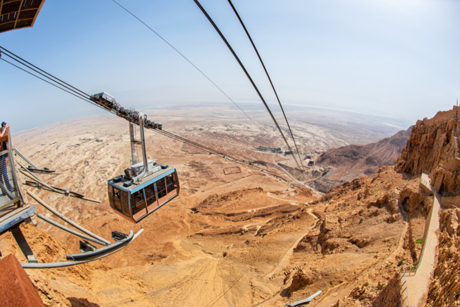 Acsend Masada by Cabel-Car.