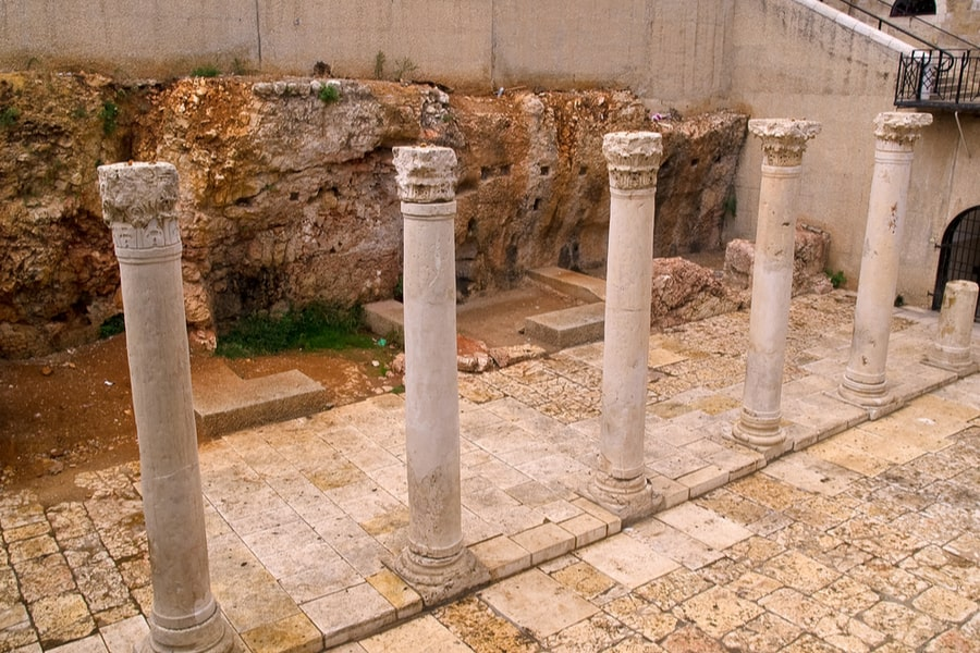 The Ruins of Roman street Cardo, Jerusalem