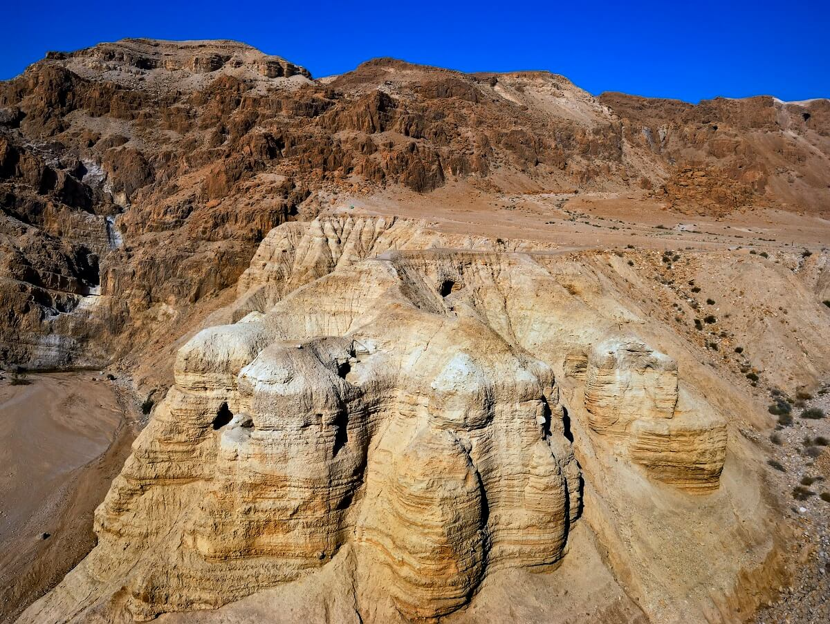 The famous Qumran caves