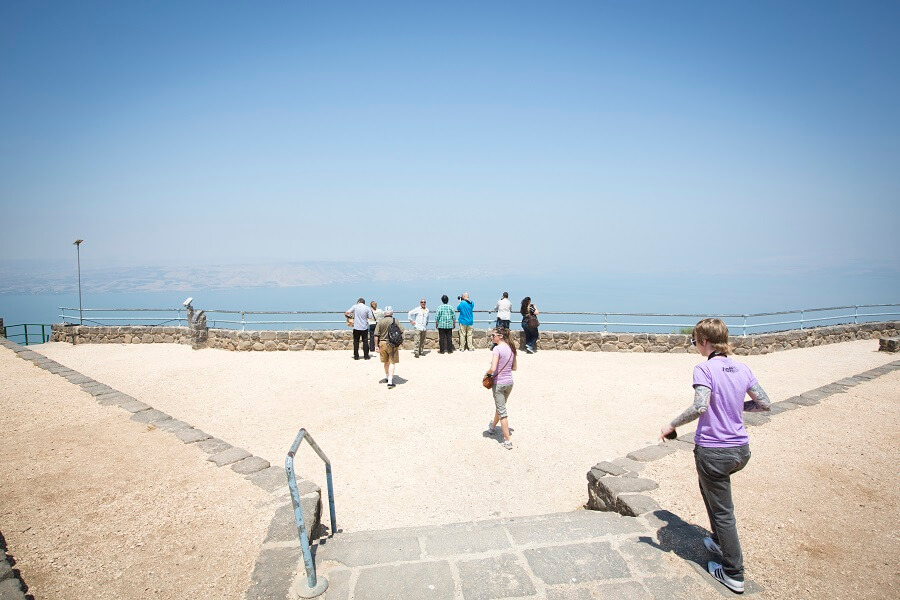 Stop to View the Sea of Galilee from Above.